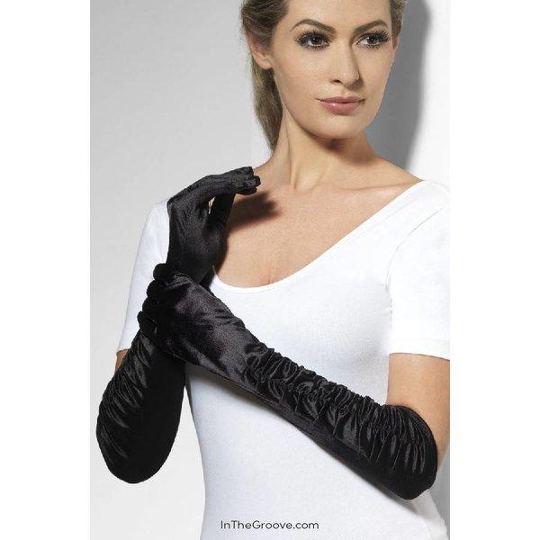 Fever/Smiffys Temptress Gloves - Black