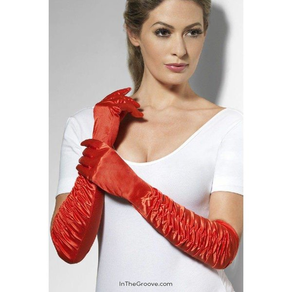 Fever/Smiffys Temptress Gloves - Red