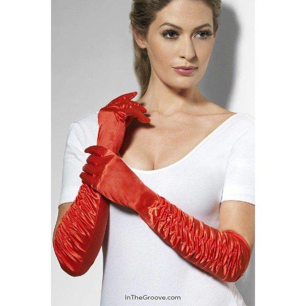 Fever/Smiffys Temptress Gloves - Red