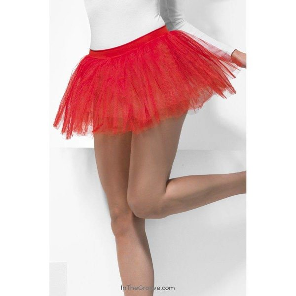 Fever/Smiffys Tutu Underskirt Red - One Size