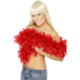 Fever/Smiffys Deluxe Feather Boa - Red