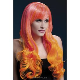 Fever/Smiffys Emily Wig - Pink/Orange