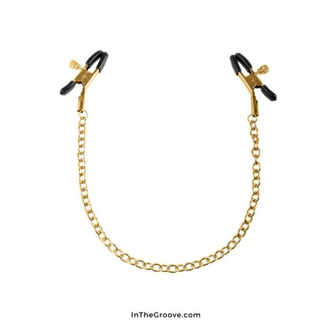 Fetish Fantasy Gold Nipple  Clamps