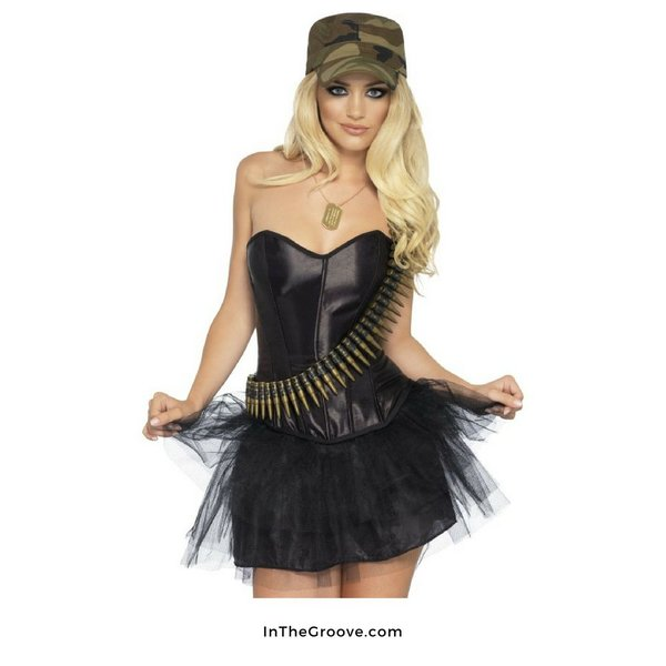 Fever/Smiffys Camo Cutie Costume Kit