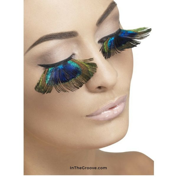 Fever/Smiffys Eyelashes Peacock Plumes