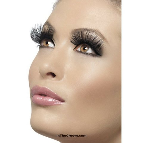Eyelashes Long 60's Style Black