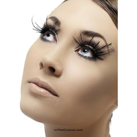 Eyelashes Black Large Plumes