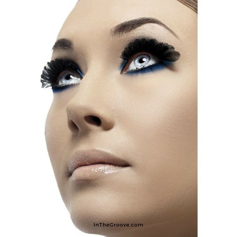 Eyelashes Black Round Plumes