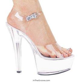 """Brooke 6"""" Heel Open Toe Shoe Clear"""