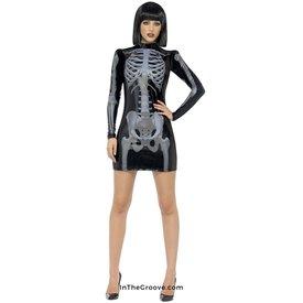 Fever/Smiffys Skeleton Glow Print Dress