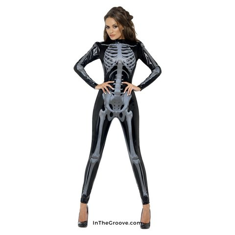 Skeleton Glow Print Bodysuit