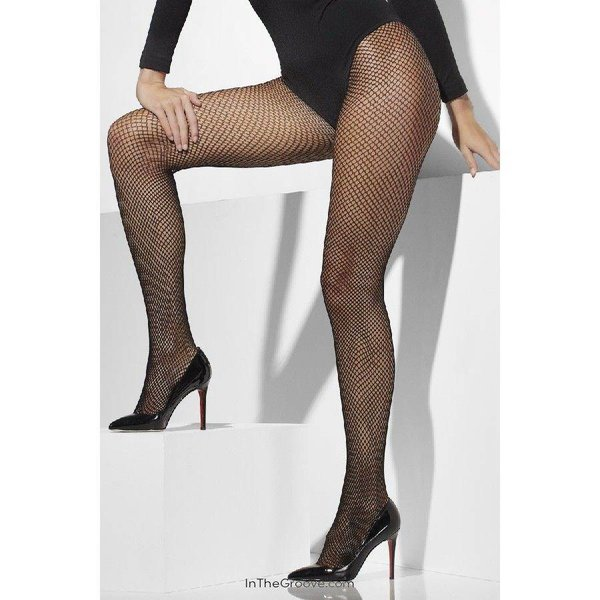 Fever/Smiffys Fishnet Tights One Size - Black