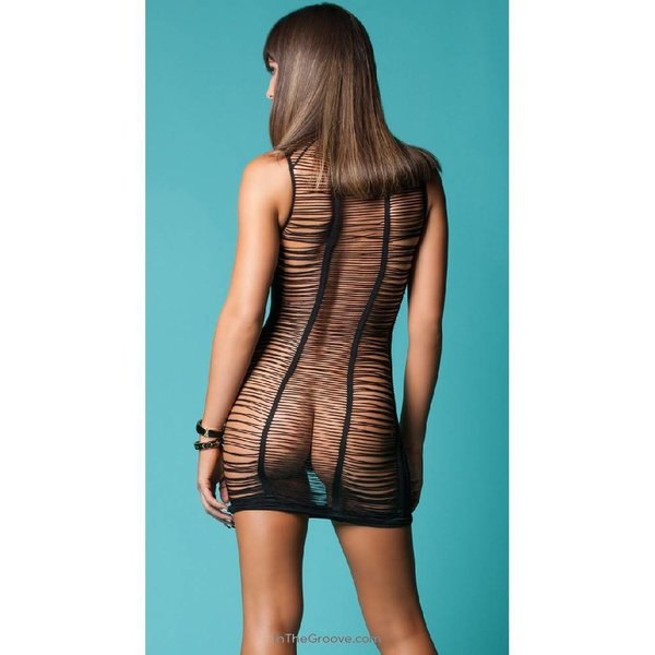 Hauty After Dark Shredded Chemise - One Size