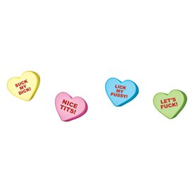 Valentine X-Rated Jumbo Candy Hearts