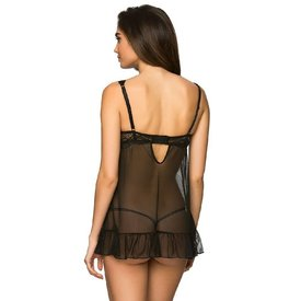 Rene Rofe Strappy Lace and Mesh Babydoll