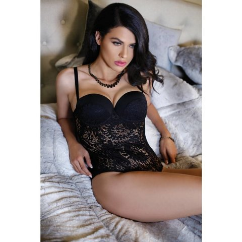 Monroe Push Up Cup Lace Teddy