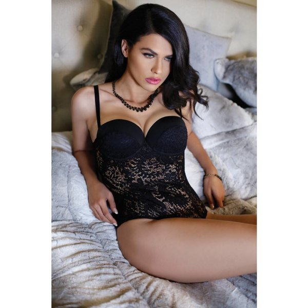 Fantasy Lingerie Monroe Push Up Cup Lace Teddy