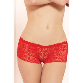 Seven 'til Midnight Classic Lace Boyshort Red