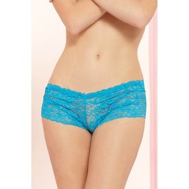 Seven 'til Midnight Classic Lace Boyshort Turquoise