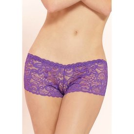 Seven 'til Midnight Classic Lace Boyshort Purple