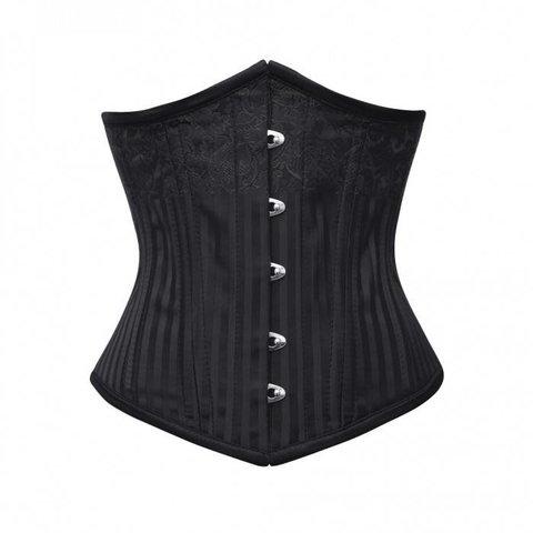 Brocade Underbust Corset Black/Black