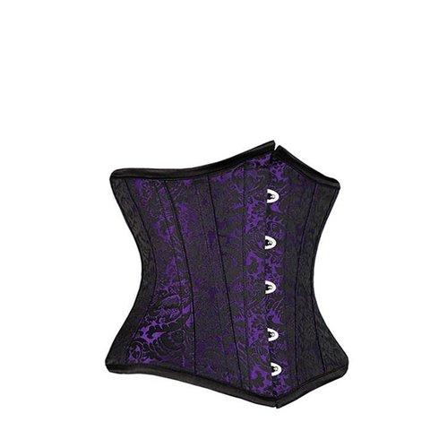 Brocade Underbust Corset Purple/Black