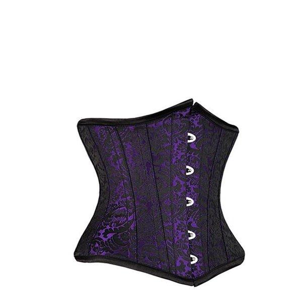 Groove Brocade Underbust Corset Purple/Black