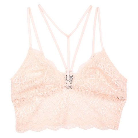 Lace Detail Bralette Peach