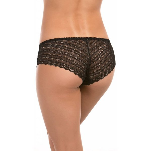 Seven 'til Midnight All Over Geometric Lace Boyshort - Black
