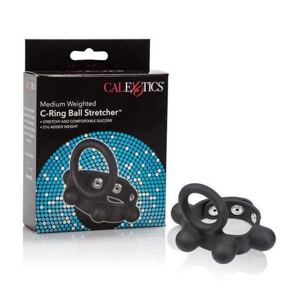 California Exotic Weighted Silicone Cock Ring and Ball Stretcher Medium