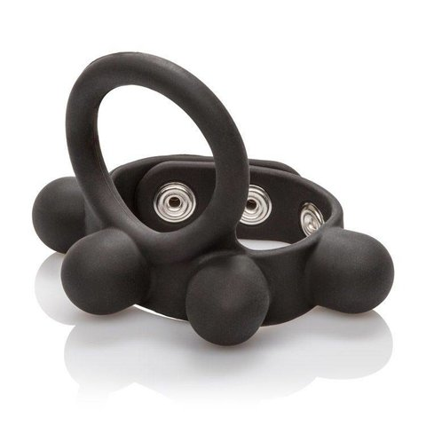 Weighted Silicone Cock Ring and Ball Stretcher Large