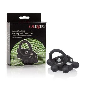 California Exotic Weighted Silicone Cock Ring and Ball Stretcher Large