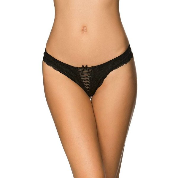 Rene Rofe Lace Up Twist Thong