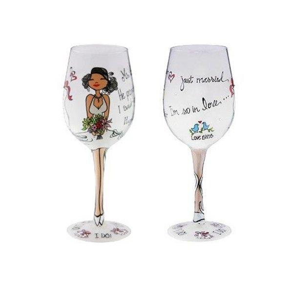 """Groove Wine Glass  - """" I Do"""""""