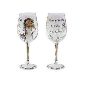 Groove Wine Glass  - Just Married
