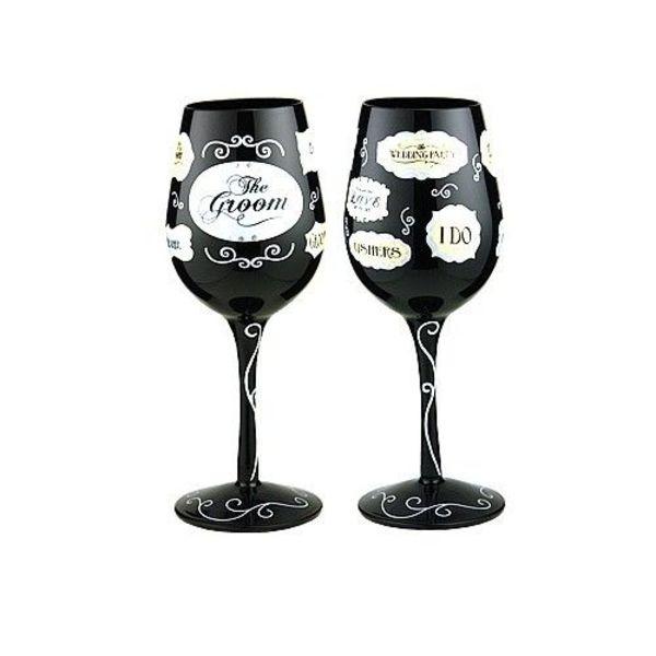 Groove Wine Glass - Groom