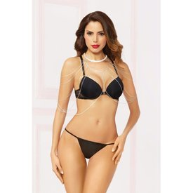 Seven 'til Midnight Rhinestone Silver Draping Body and Arms Chain