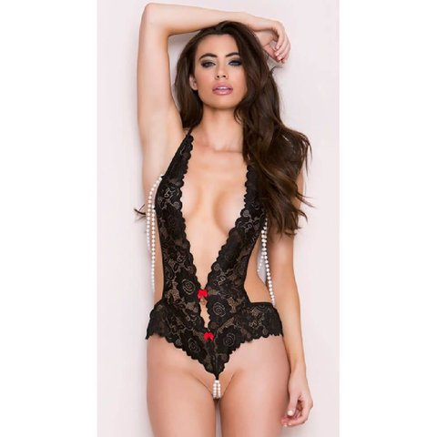 Beaded Teddy One-size Black