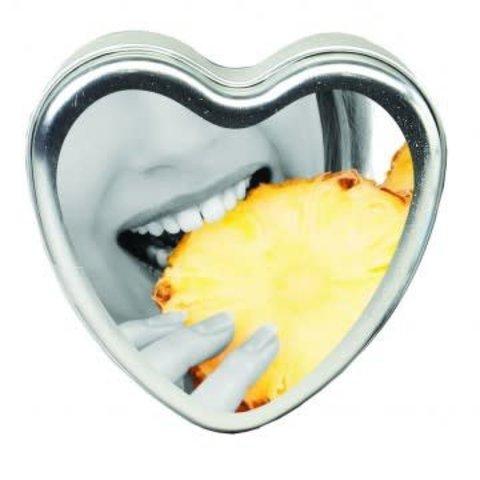 Edible Massage Hemp Candle - Pineapple 4 oz