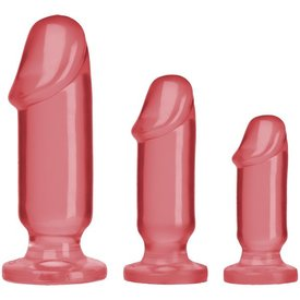 Doc Johnson Crystal Jellies Anal Starter Kit - Pink