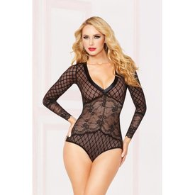 Seven 'til Midnight Naughty Secret Long Sleeve Teddy