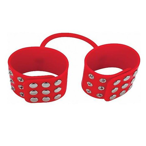Ouch! Silicone Cuffs - Red