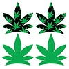 Up In Smoke Pot Leaf Pasties