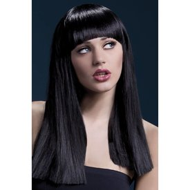 Fever/Smiffys Alexia Wig Long Blunt Cut - Black