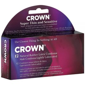 Crown Super Thin Condom 12 pack