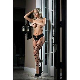 G World  Intimates Basic Instinct Panty & Stockings - One Size