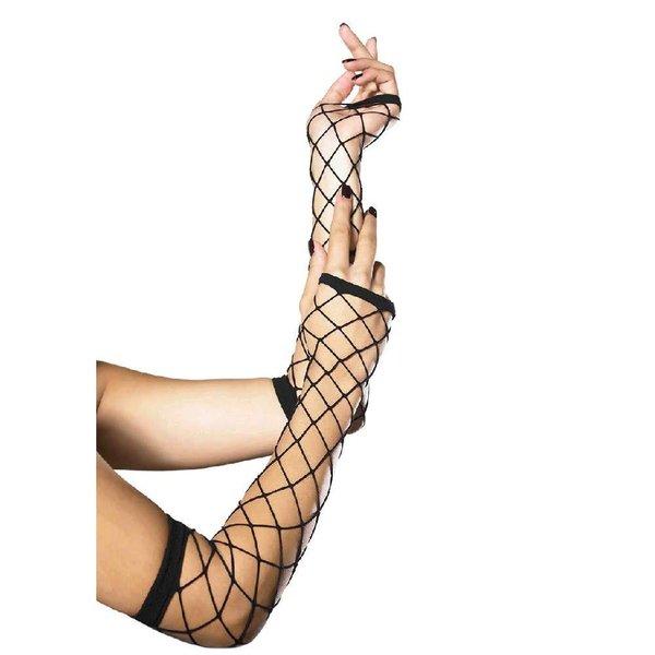 Leg Avenue Fence Net Fingerless Gloves