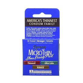 Microthin Condom Variety 3-pack