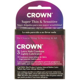 Crown Super Thin Condom 3 pack