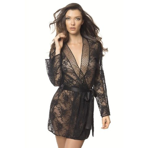 Chantal Lace & Lattice Net Robe